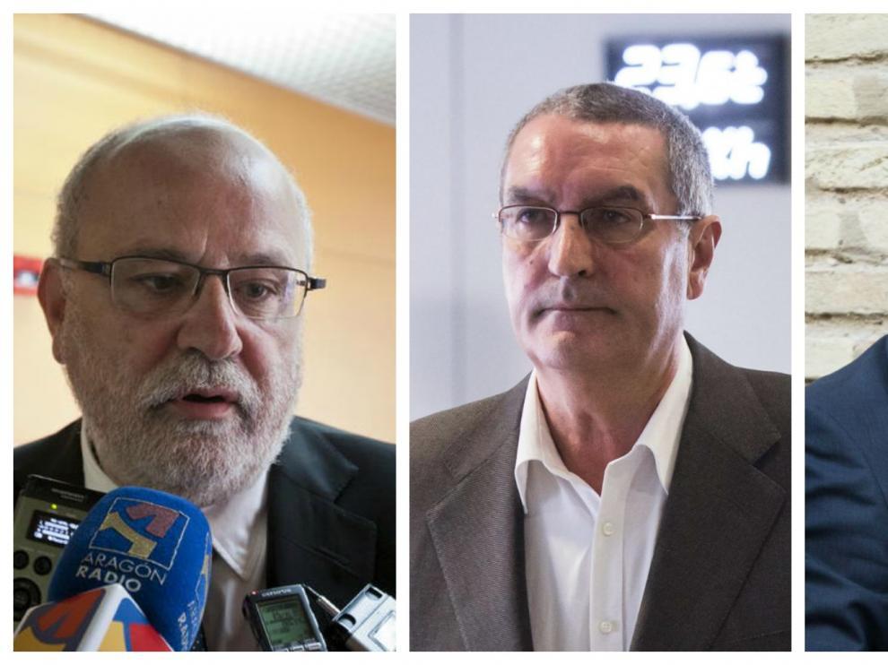 Carlos Esco, Ricardo García Becerril y Agapito Iglesias.