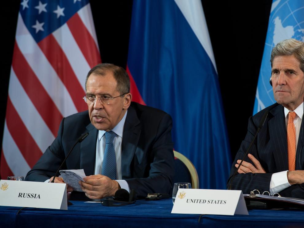 Sergei Lavrov y John Kerry.