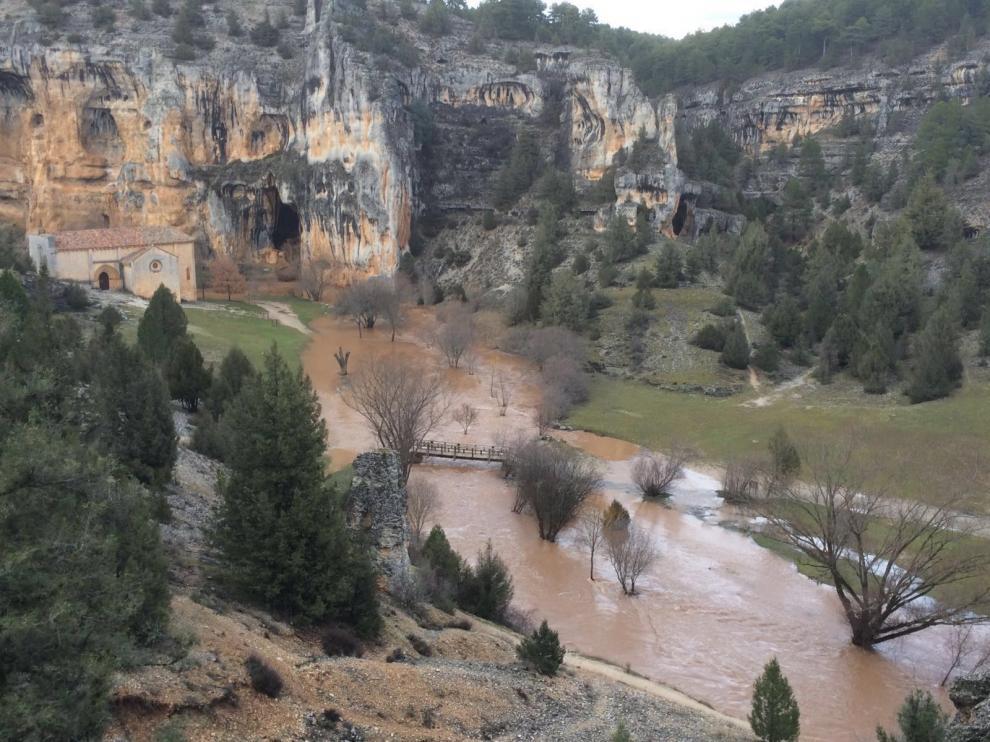 Zona de la ermita de San Bartolomé, en el Cañón del río Lobos