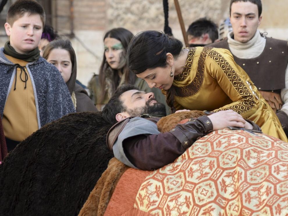 Recreación de la leyenda de Los Amantes de Teruel.
