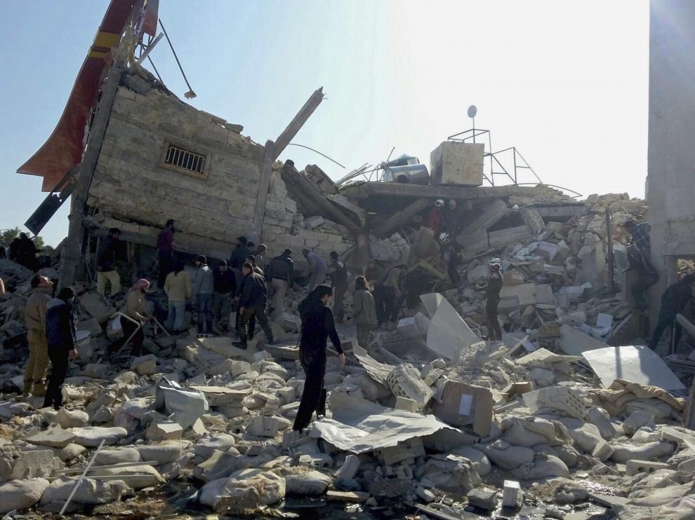 Centro sanitario atacado en la provincia de Idlib.