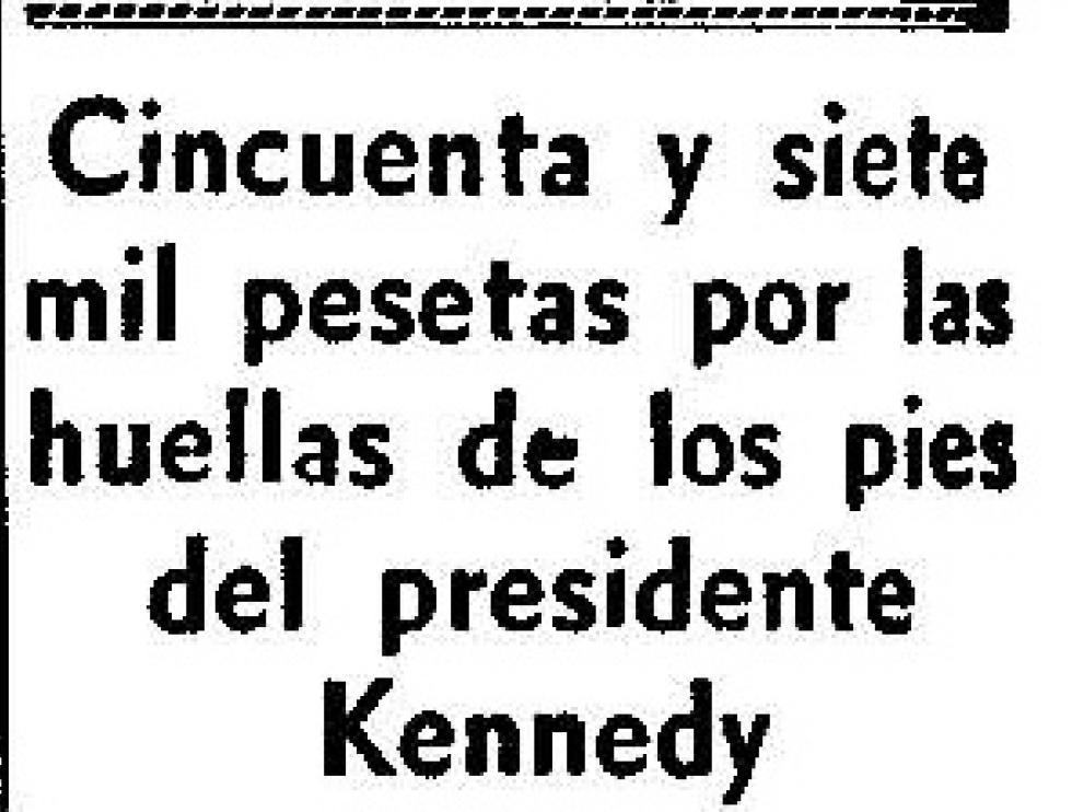 Cincuenta y siete mil pesetas por las huellas de los pies de Kennedy dibujadas a lápiz
