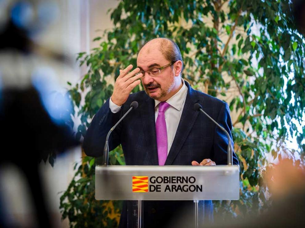 Javier Lambán en una imagen de archivo.