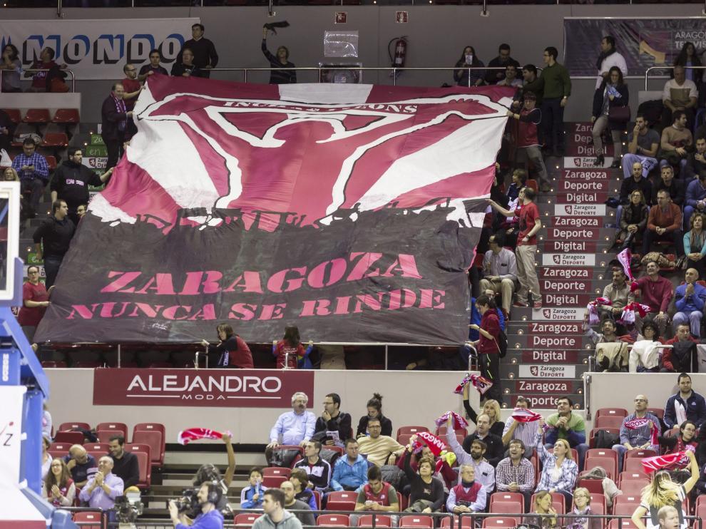 Una imagen de la grada del Príncipe Felipe durante el partido contra el Galatasaray