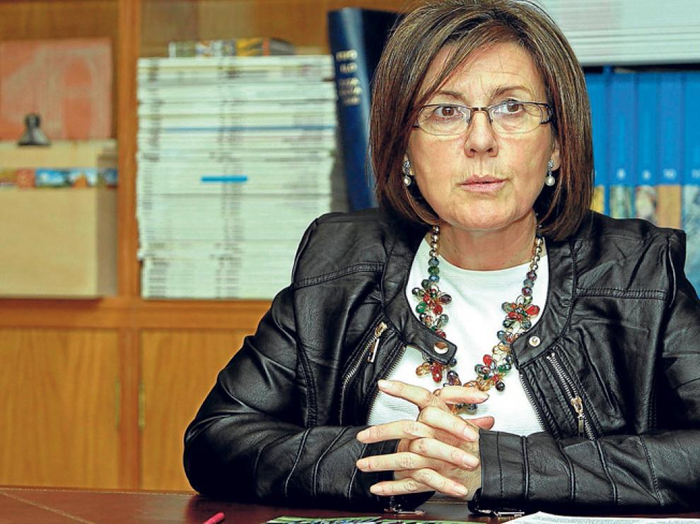La cabeza de lista del PP al Senado por Soria, Marimar Angulo, durante la entrevista para HERALDO.