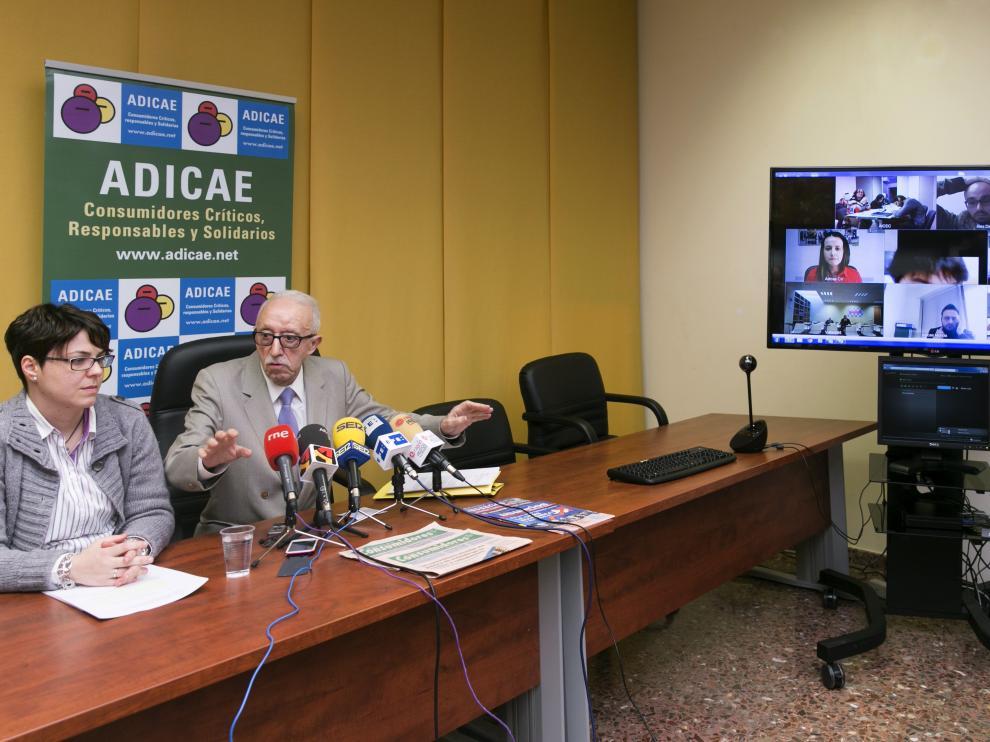 Rueda de prensa de Adicae tras conocerse la decisión