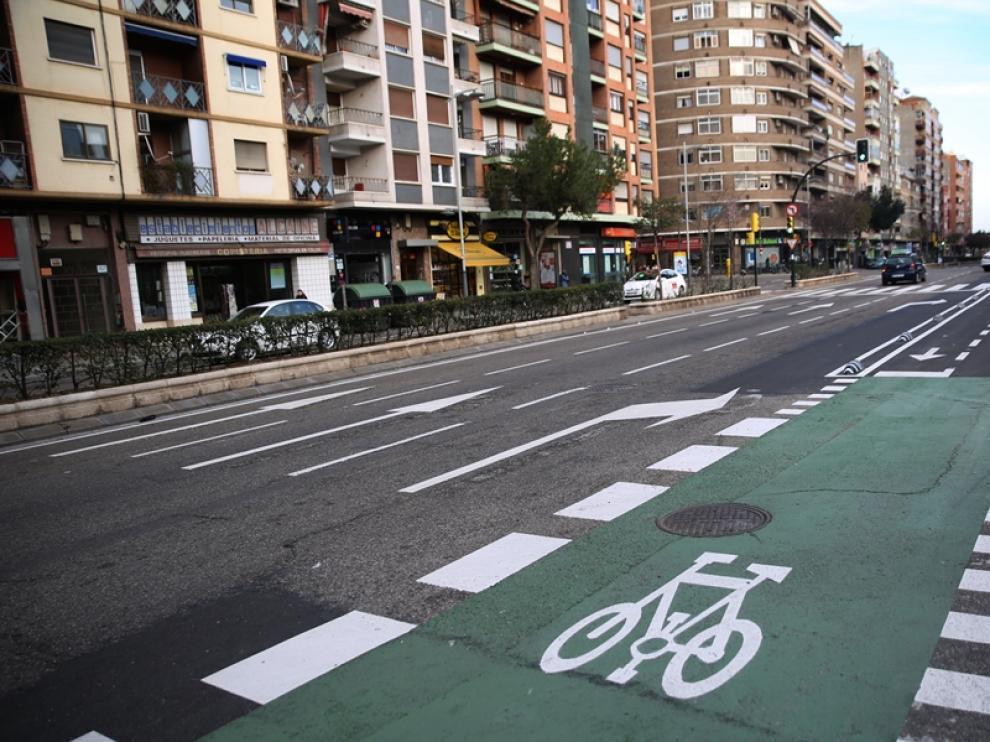 El carril bici de Tenor Fleta ha abierto por completo