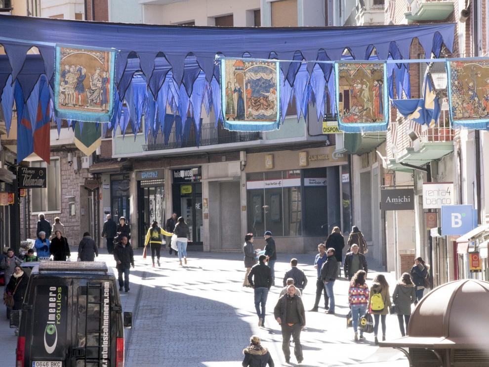 Decoración en las calles de Teruel.