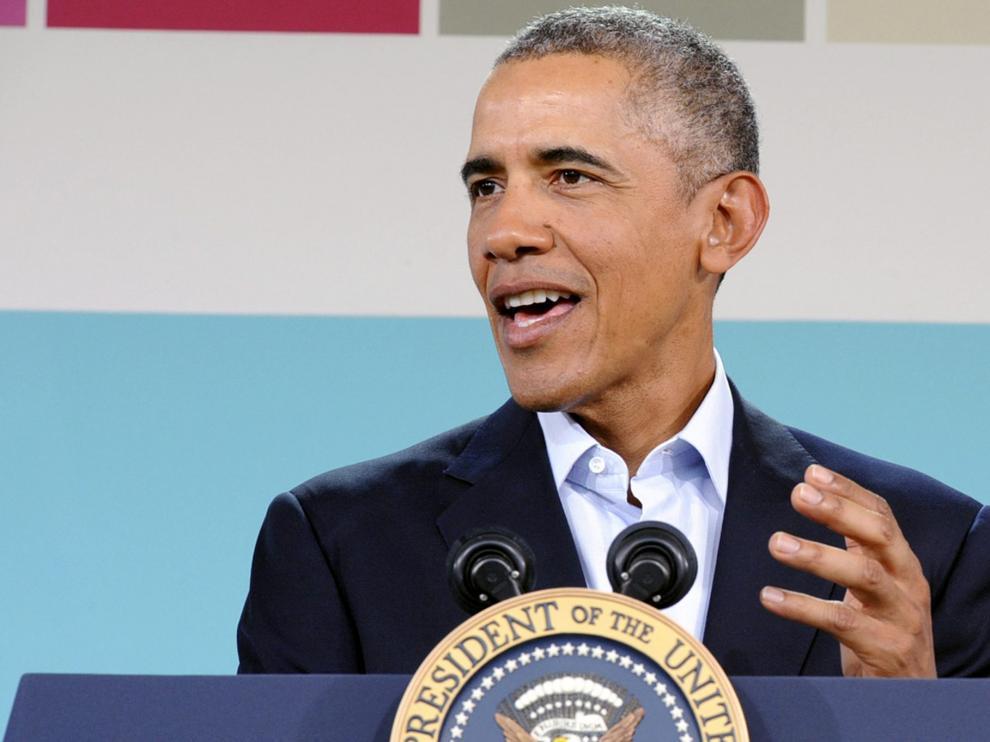 Obama durante una conferencia de prensa en el último día de la cumbre US-ASEAN en Sunnylands.