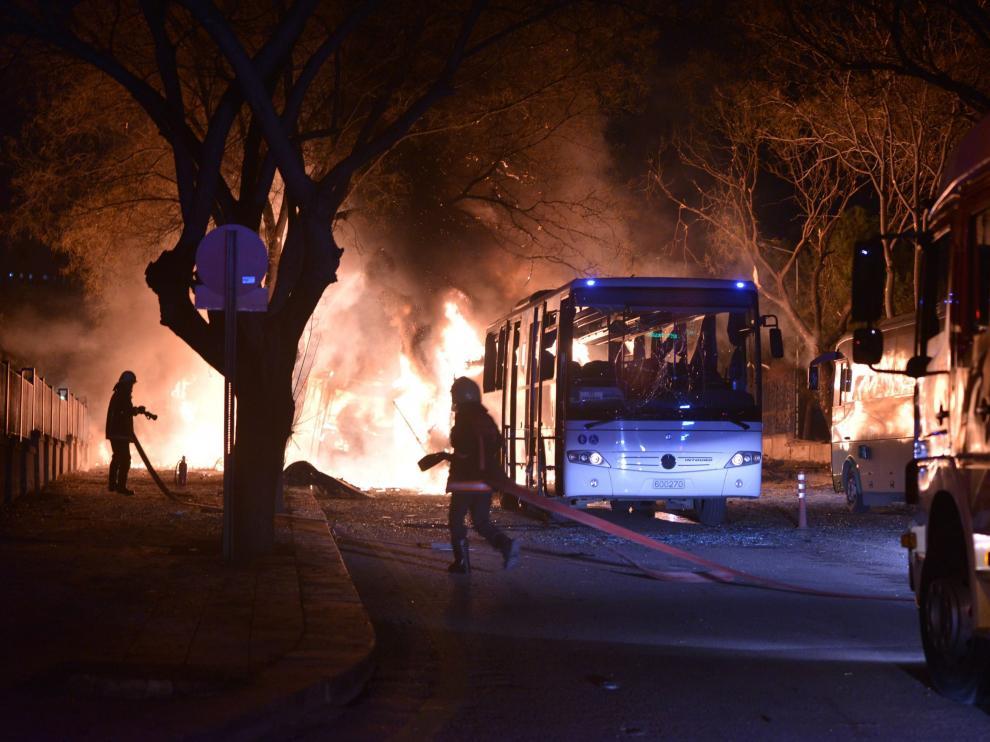 Lugar de la explosión en la capital turca.