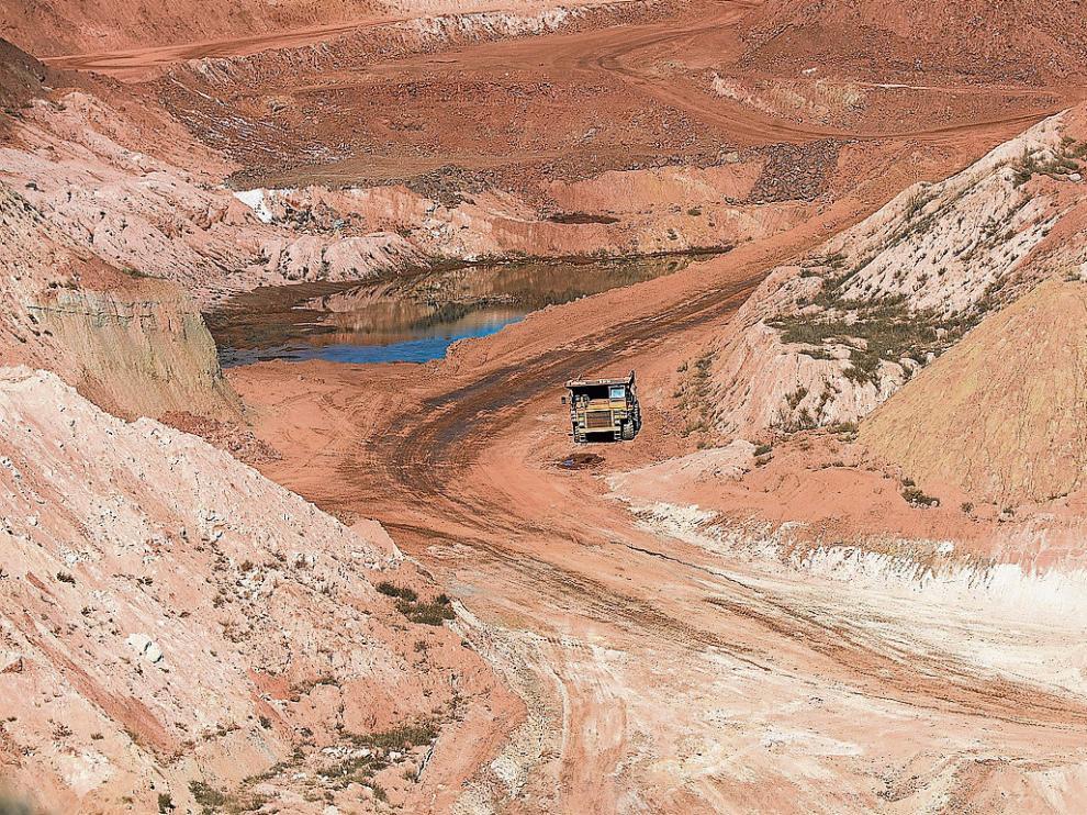Una mina de arcilla a cielo abierto en el término municipal de Galve.