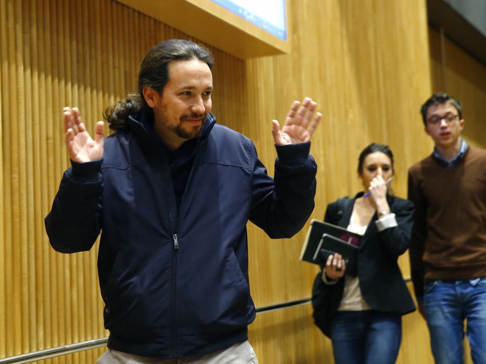 Pablo Iglesias, en el Congreso de los Diputados