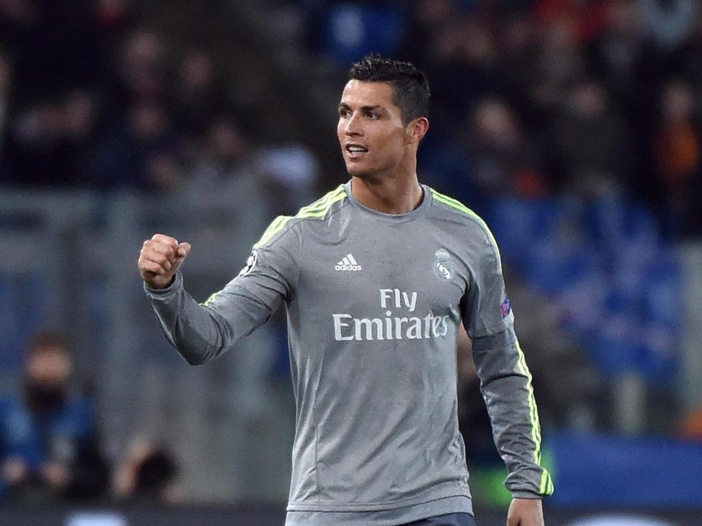 Cristiano Ronaldo celebra la victoria lograda ante la Roma.
