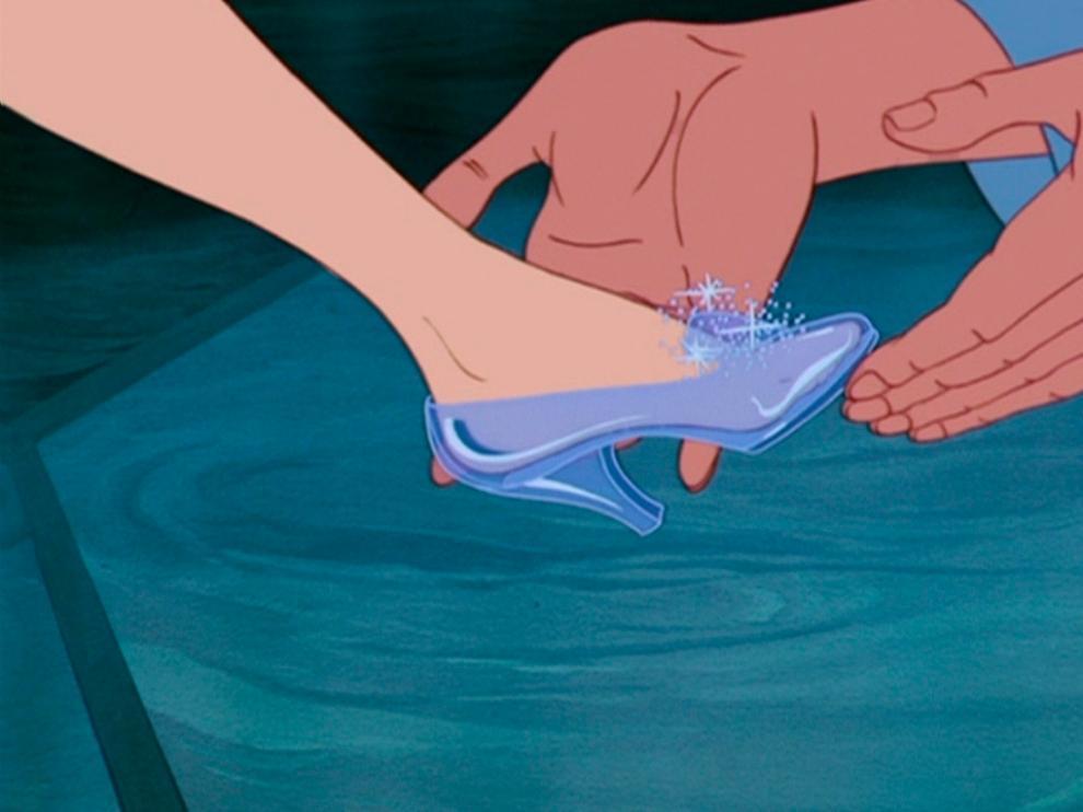 Zapato de cristal de Cenicienta, de Disney