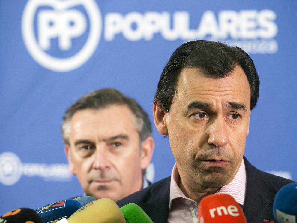 Martínez-Maíllo  asiste a la Junta Directiva del Partido Popular en Zaragoza.