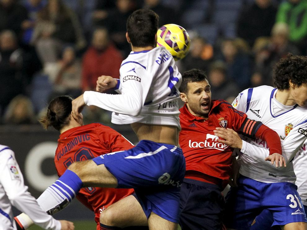 Una imagen del último partido del Real Zaragoza en El Sadar