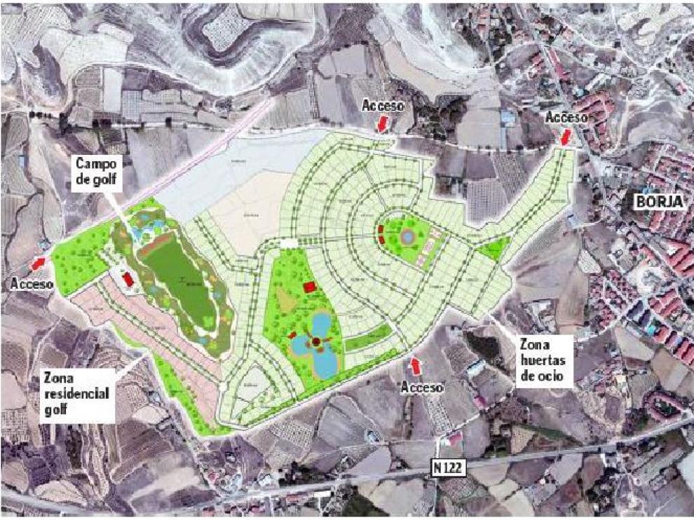 Plano de la urbanización.