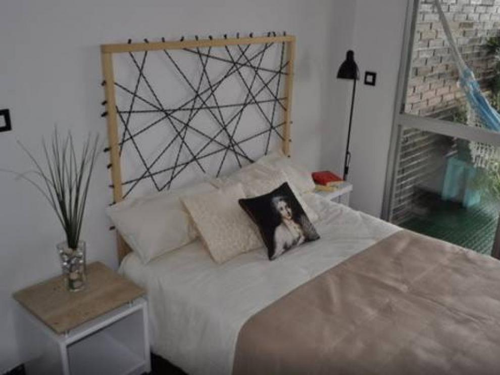 Una de las habitaciones ofrecidas en Zaragoza en el portal Airbnb