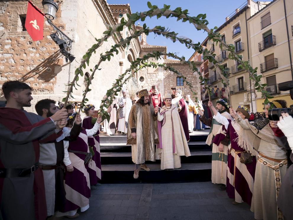 La escena de la boda de Isabel con Pedro de Azagra es una de las imprescindibles de esta celebración.