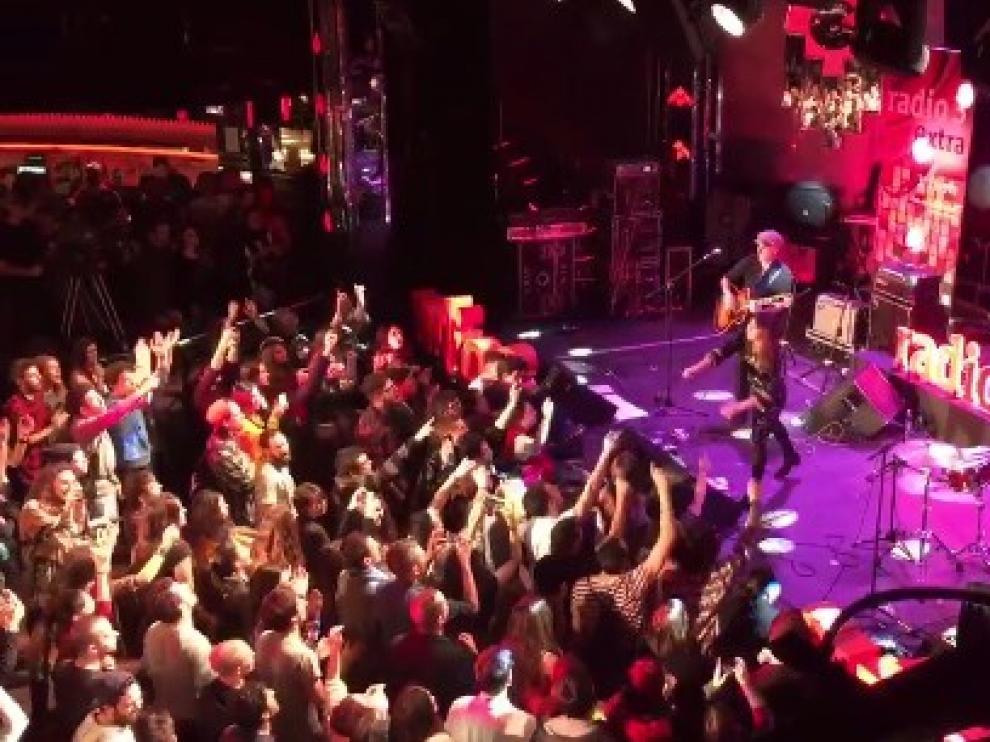 Imagen de Amaral en el concierto de Radio 3.