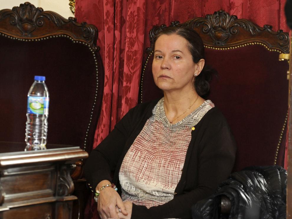 Montserrat González durante la lectura del veredicto.