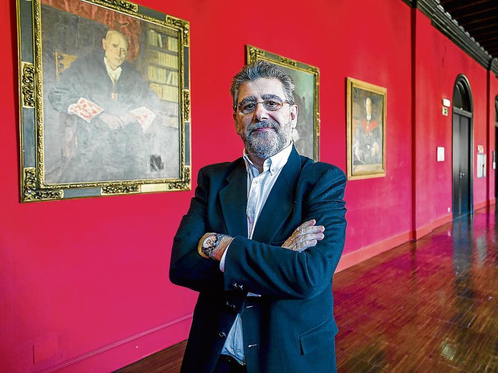 Mayoral, esta semana, en los pasillos del edificio del Paraninfo de Zaragoza.