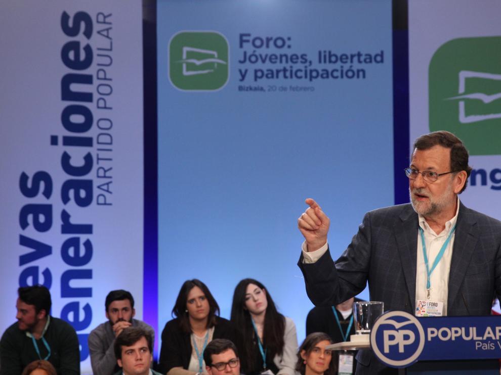Mariano Rajoy este sábado en Bilbao