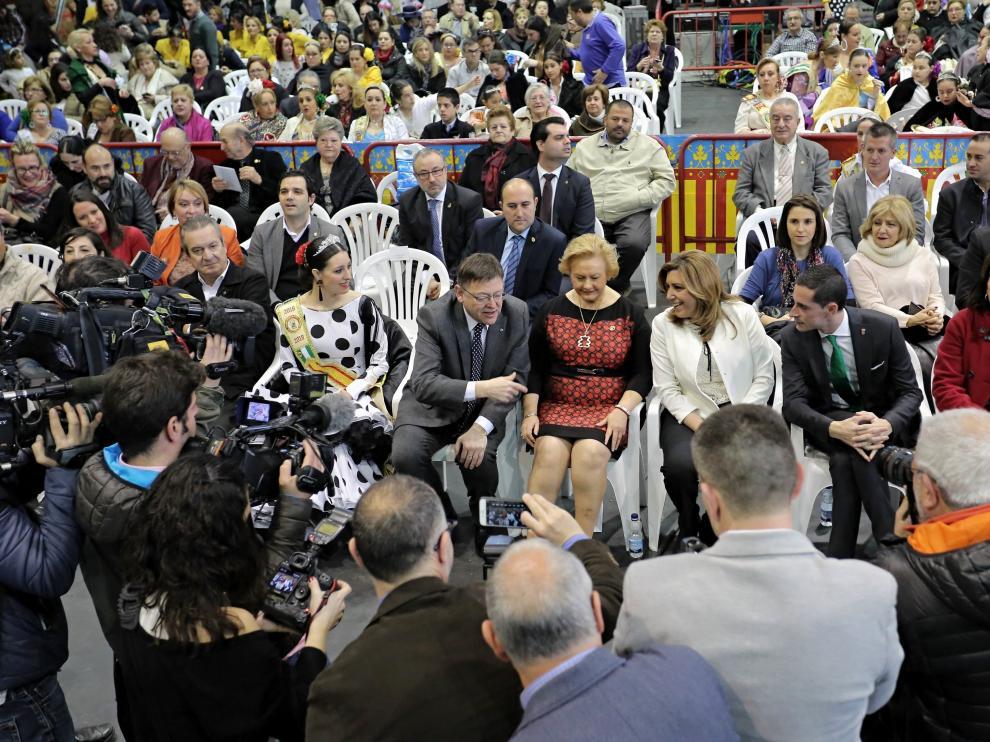 Ximo Puig y Susana Díaz en un acto en Valencia.