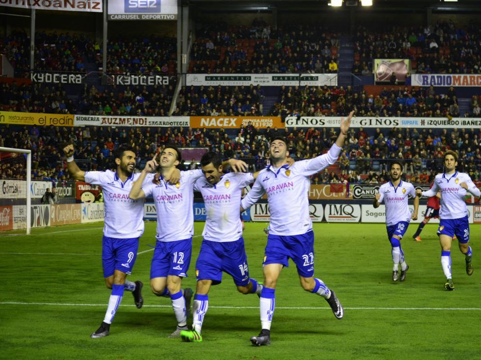 Empate entre el Osasuna y el Real Zaragoza en Pamplona