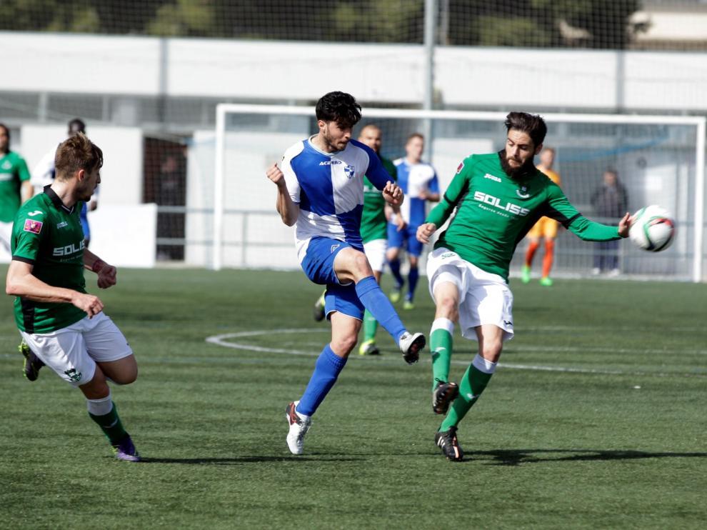Un lance del partido entre el Ebro y el Toledo.