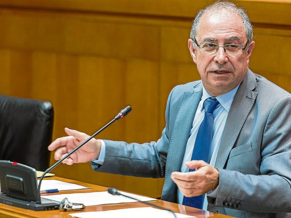 Fernando Gimeno, el pasado octubre, en una comparecencia en las Cortes de Aragón.