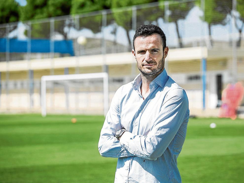 Manu Herrera, en uno de los campos de entrenamiento de la Ciudad Deportiva.
