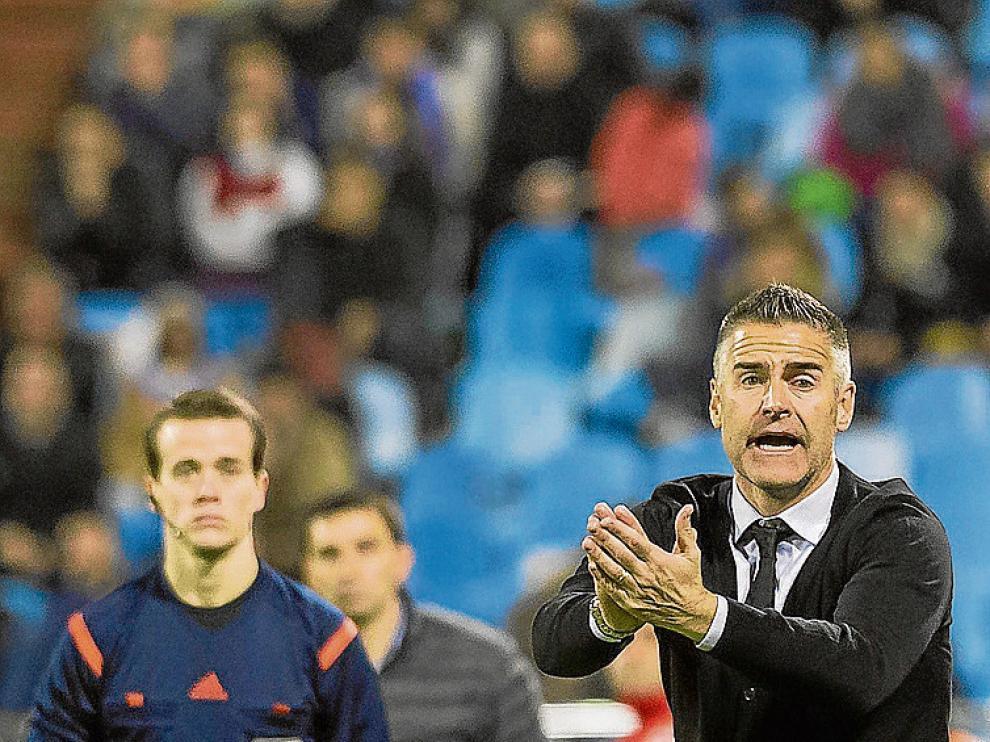 Lluís Carreras, durante un partido del Real Zaragoza