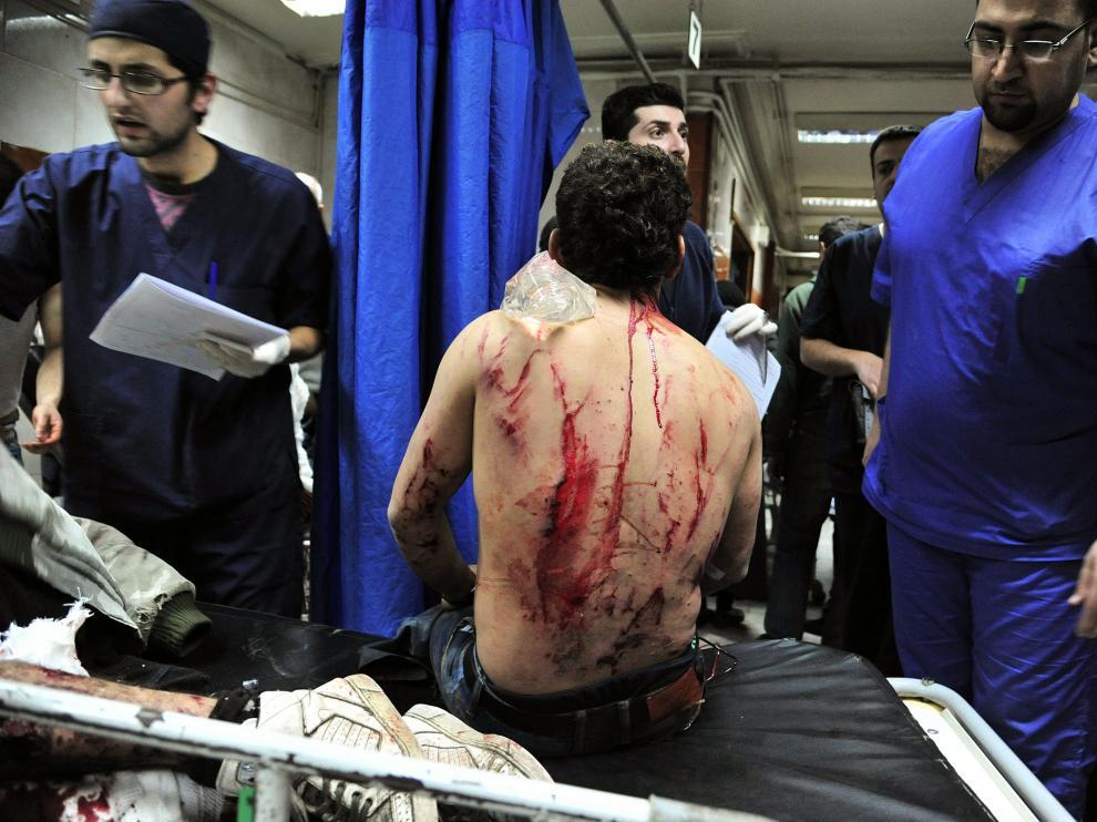 Se eleva a 155 la cifra de muertos en los ataques en Homs y Damasco