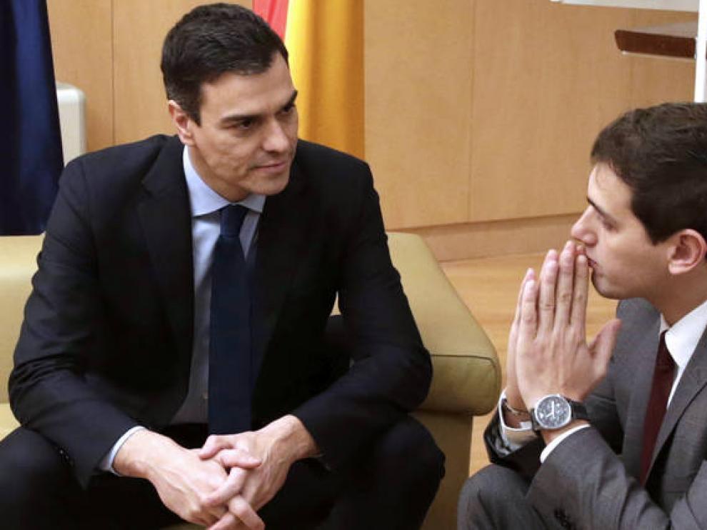 Pedro Sánchez y Albert Rivera, en una imagen de archivo.