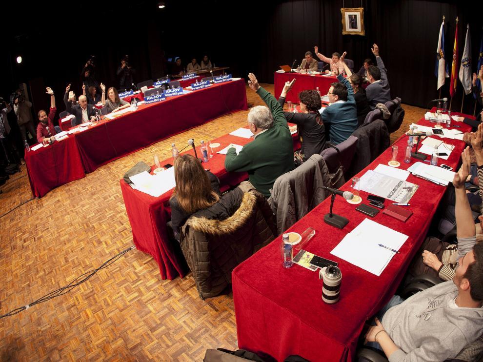 Imagen del pleno del Ayuntamiento de Pontevedra.