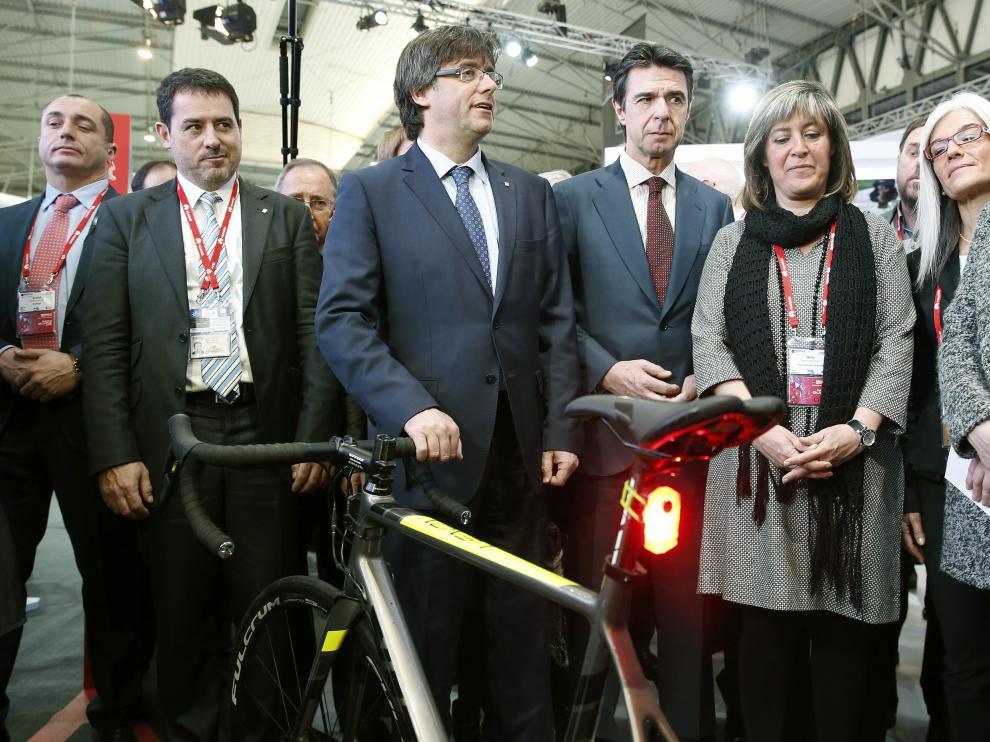 Carles Puigdemont y Manuel Soria inauguran el Mobile World Congress