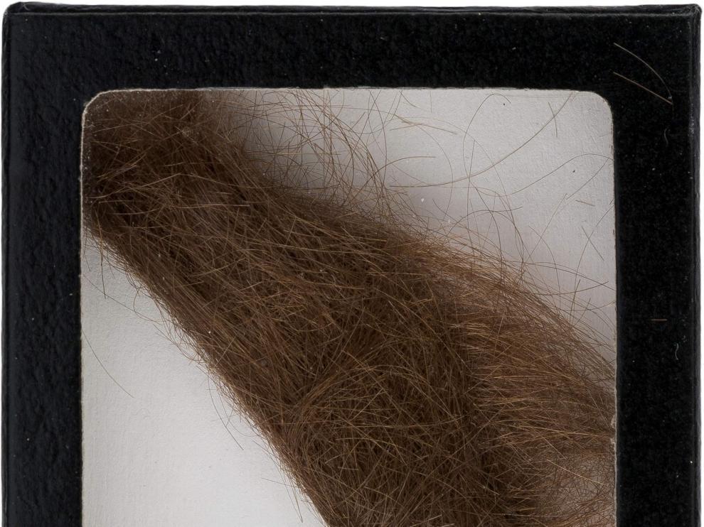 El mechón de pelo de Lennon subastado.