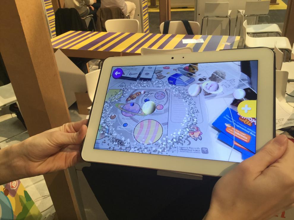 Los chicos de la aragonesa Chromville han estado en Barcelona con sus proyectos de realidad aumentada