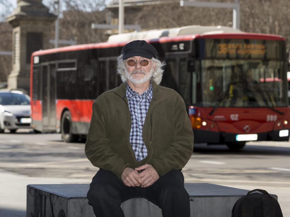 Óscar García Villares, ayer en el paseo de la Independencia.
