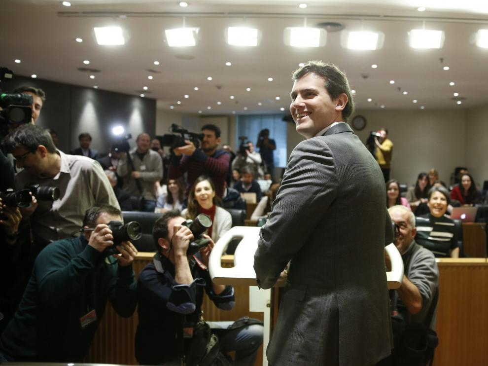 Albert Rivera, en el Congreso.