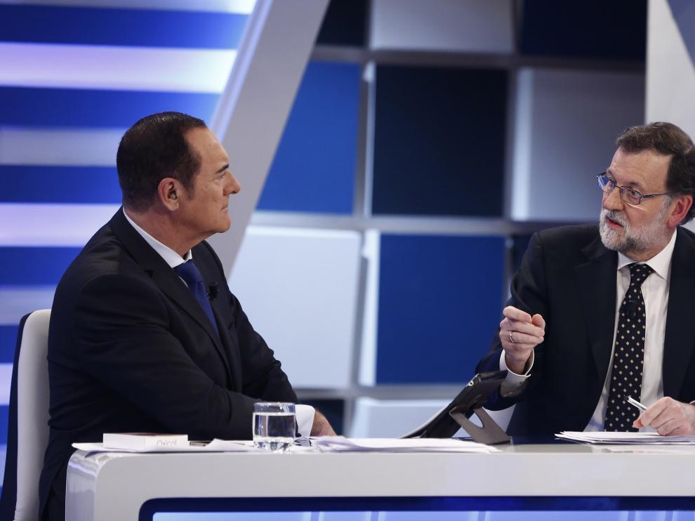 Mariano Rajoy durante la entrevista en TV3.