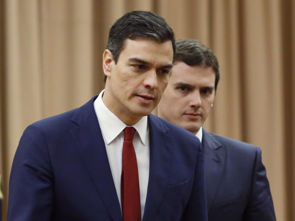 Pedro Sánchez y Albert Rivera han firmado el acuerdo esta mañana