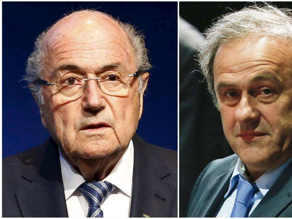 Joseph Blatter y Michel Platini.