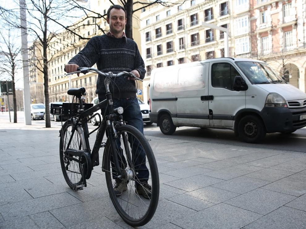 Alfonso Alegre, ciclista atropellado por un coche de forma intencionada