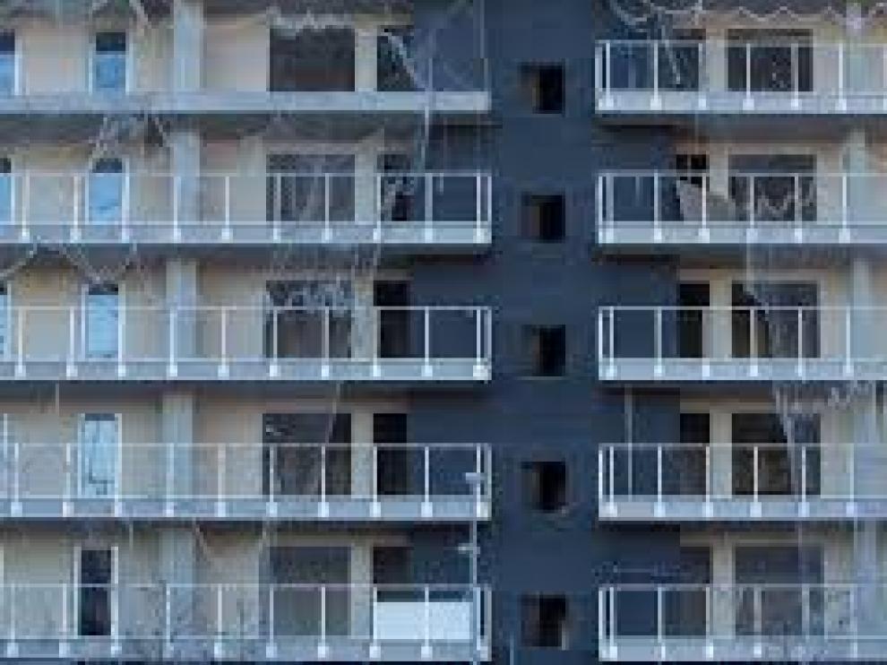 Obra de viviendas en Zaragoza