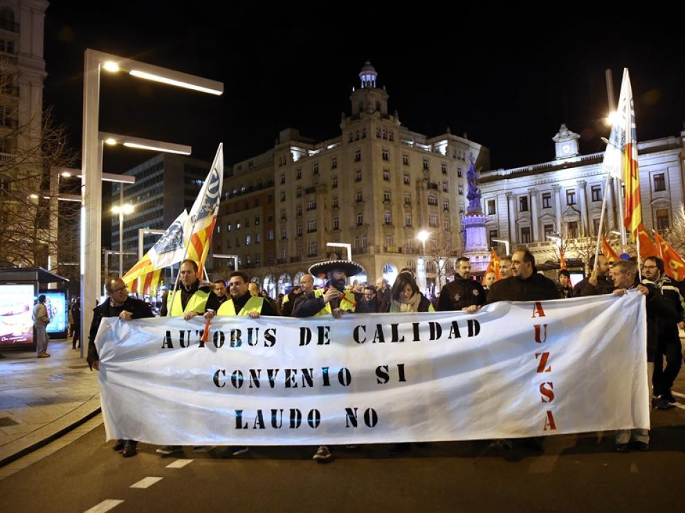 Manifestación de los trabajadores de AUZSA