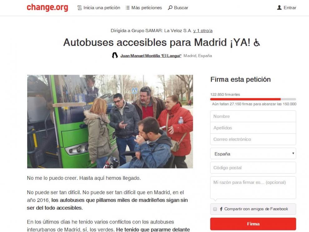 Iniciativa de El Langui en Charge.org