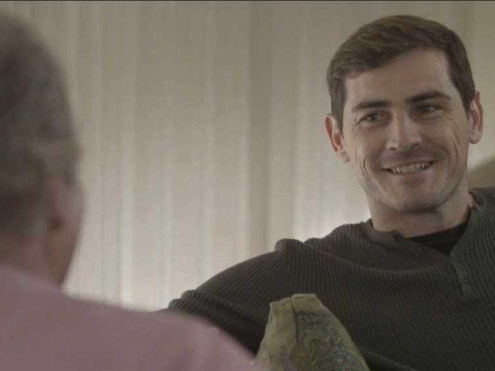 Iker Casillas en el programa presentado por Bertín Osborne 'En tu casa o en la mía'.