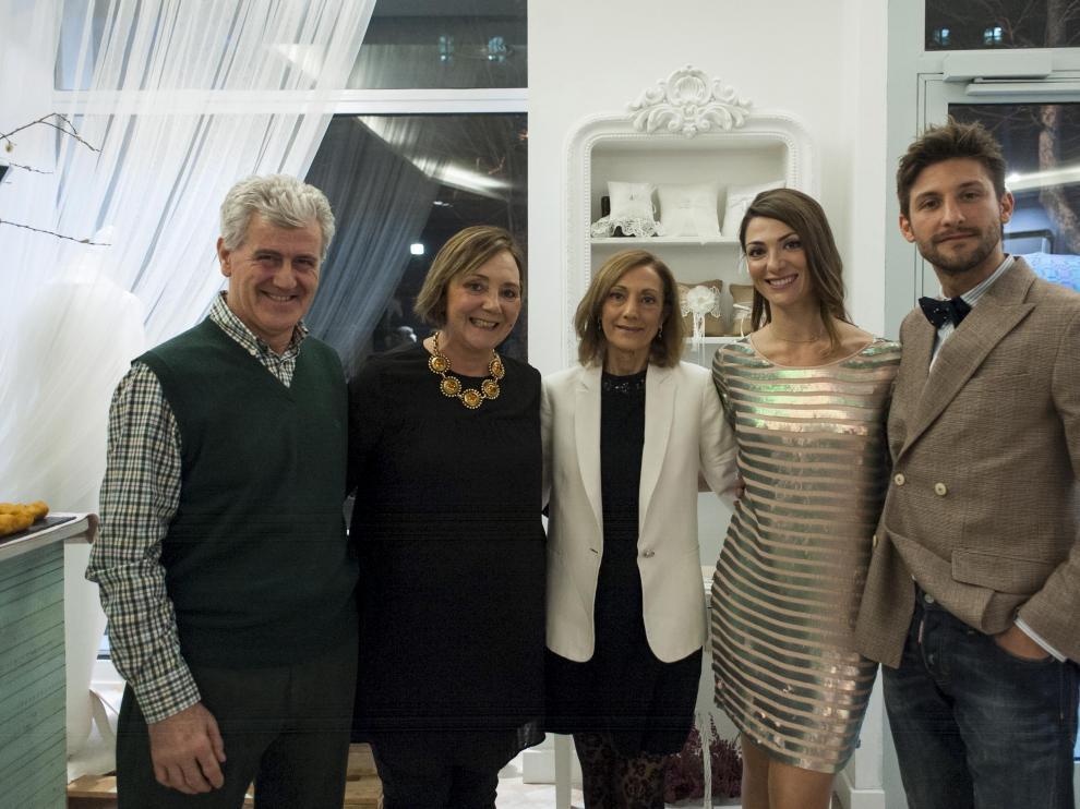 Alejandro Jalices, Isabel Alonso, Carmen Alonso, Elena Navarro y Emilio del Castillo, en Love Story.